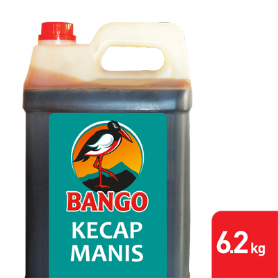 Bango Kecap Manis 6.2kg - Bango, Soy Sauce number 1, trusted by famous restaurants all over Indonesia.