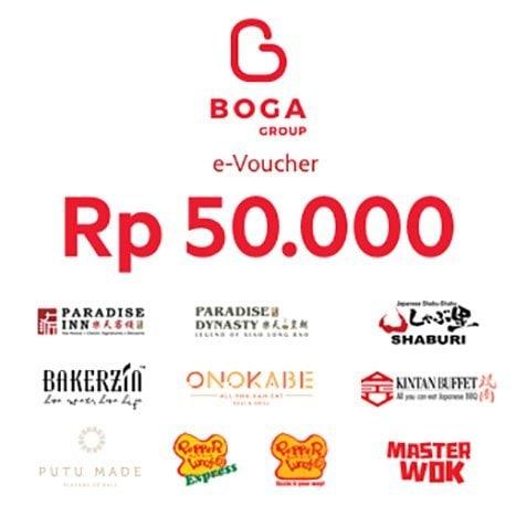 Rp50,000 Boga Group e-Voucher -