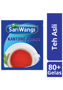 SariWangi Kantong Jumbo 4x20g - SariWangi Kantong Jumbo produces classic, Indonesian tea flavours in large quantity yet in a more practical way