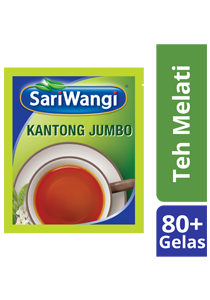 SariWangi Teh Melati Kantong Jumbo 4x20g - SariWangi Teh Melati Kantong Jumbo produces classic, Indonesian tea flavors in large quantity yet in a more practical way
