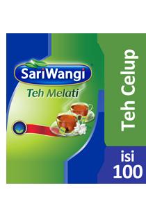 SariWangi Teh Melati Tea Bag 100 - Teh melati berkualitas dalam kemasan ekonomis, untuk margin yang lebih baik.