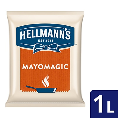 Hellmann's Mayo Magic Pouch 1L - Hellmann's Mayo Magic, the right choice with delicious mayo flavors for a variety of hot dishes!
