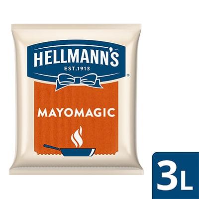 Hellmann's Mayo Magic Pouch 3L - Hellmann's Mayo Magic, pilihan tepat dengan rasa mayo lezat untuk beragam hidangan panas!