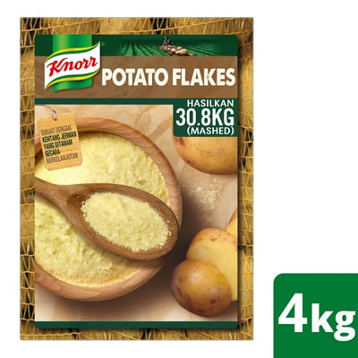 Knorr Mashed Potato 4kg - Top quality potatoes in easy to use flake format for multiple applications