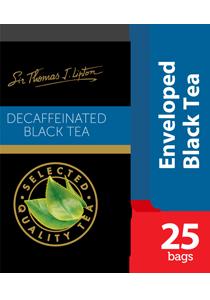 Lipton Decaffeinated Stl 25x2g - Sir Thomas Lipton range, premium quality from the World's #1 tea brand
