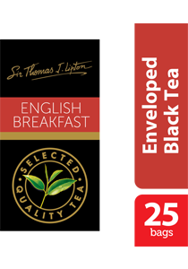 Lipton English Breakfast Stl 25x2.4g - Sir Thomas Lipton range, premium quality from the World's #1 tea brand