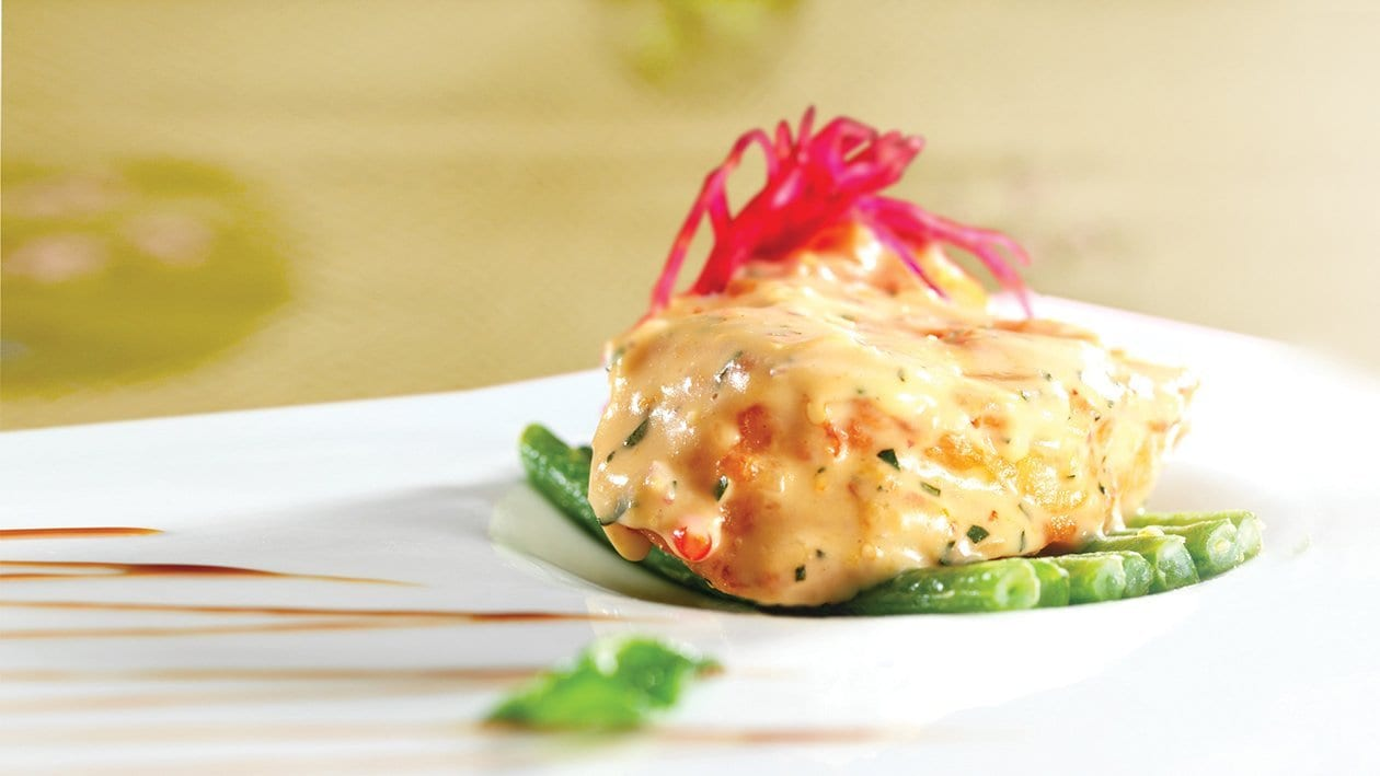 Baked Cod Fish with Salted Egg Mayo