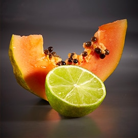 6. Papaya and lime