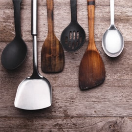 4. Spatula, Spoons, Tongs