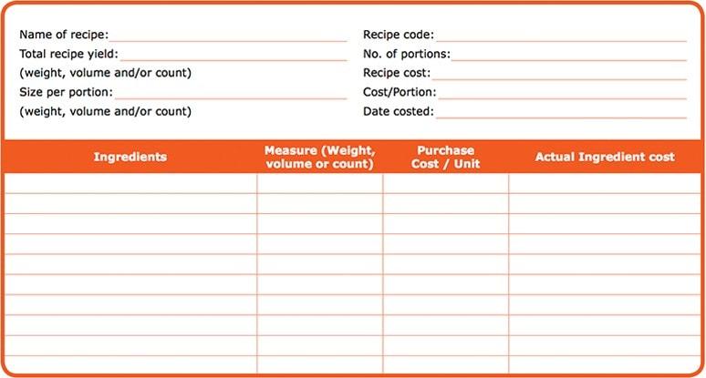 Food Costing Unilever Food Solutions Id
